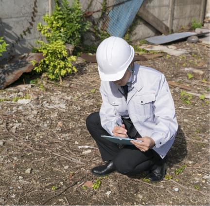 新技術・スクリュードライバーサウンディング試験による地盤調査
