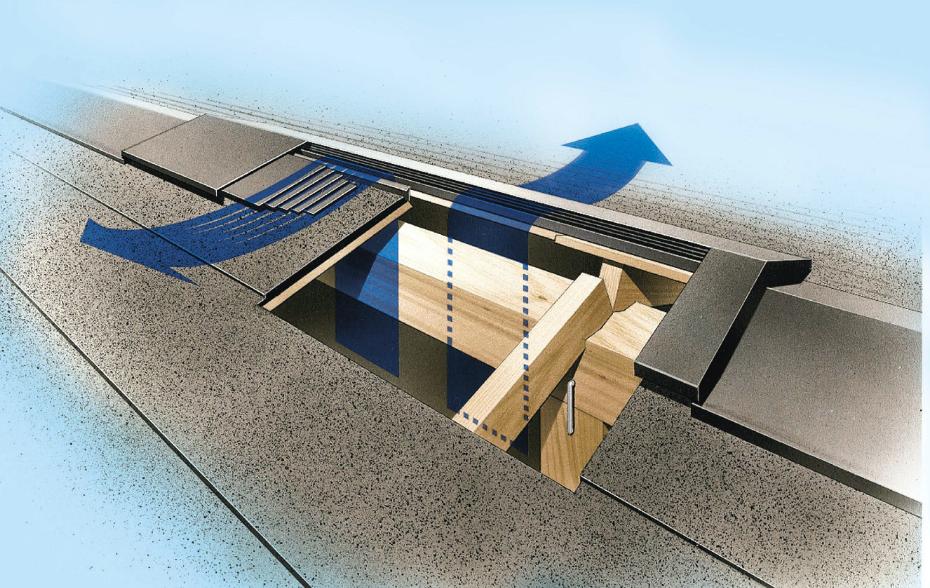 躯体の劣化を防ぐ小屋裏通気工法